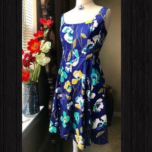 Nine West cotton floral tea dress